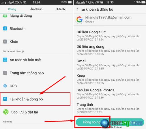 Cách khôi phục lại danh bạ bị xóa trên điện thoại Android + Hình 6
