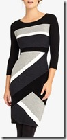 Phase Eight diagonal block knit dress