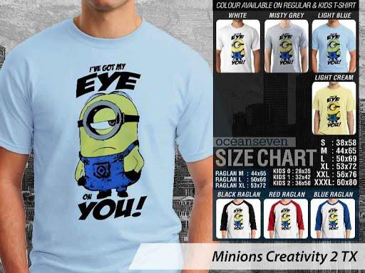 Kaos Kartun Minions Creativity 2 distro ocean seven