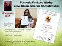 Konkurs Wiedzy o św. Bracie Albercie Chmielowskim - edycja grudzień 2016  (ogłoszenie wyników i przekazanie nagród w styczniu 2017)