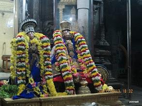Photo: thiruppANAzhwAr and emperumAnAr - divine dharshan before thiruvAimozhi nURRanthAdhi gOshti