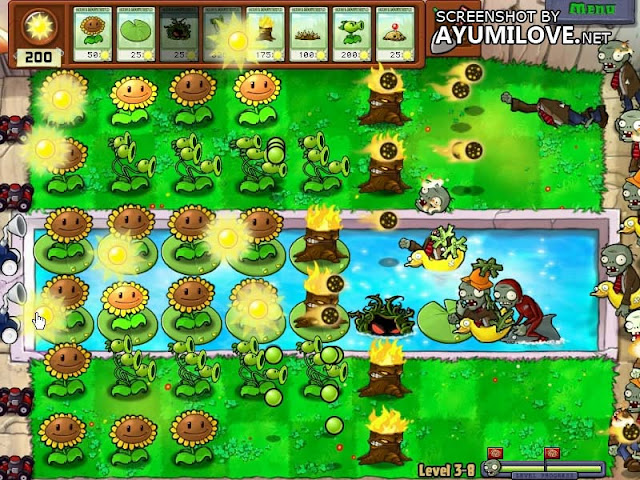 Plants vs Zombies Stage 3-8 Layout