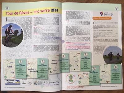 Tour de Rêves charity bike ride Deux-Sèvres France French Village Diaries