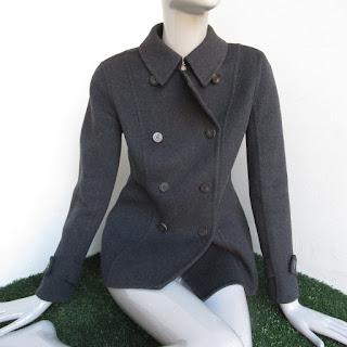 Burberry London Charcoal Wool Coat