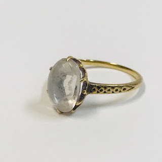 10K Gold and Clear Stone Ring