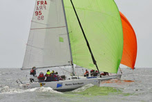 J/80s sailing downwind- Grand Prix Crouesty, France