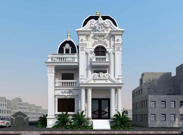 Mách nhỏ mẫu thiết kế biệt thự cổ điển châu Âu tại Hà Nội