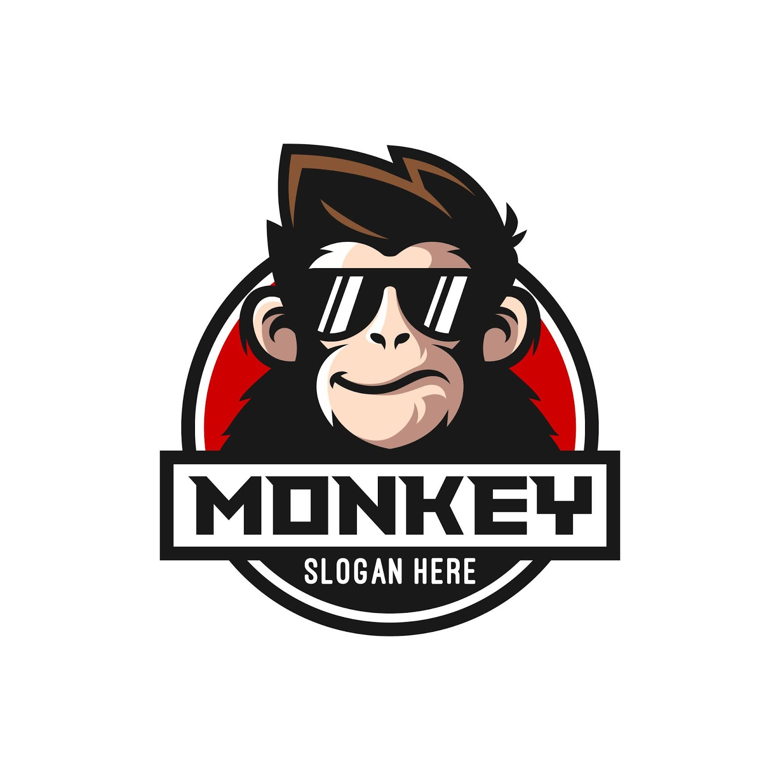 Cool Monkey Logo Design Free Download Vector CDR, AI, EPS and PNG Formats