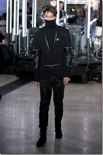 NEW YORK, NY - FEBRUARY 13:  A model walks the runway wearing look # 76 for the Philipp Plein Fall/Winter 2017/2018 Women's And Men's Fashion Show at The New York Public Library on February 13, 2017 in New York City.  (Photo by Thomas Concordia/Getty Images for Philipp Plein)
