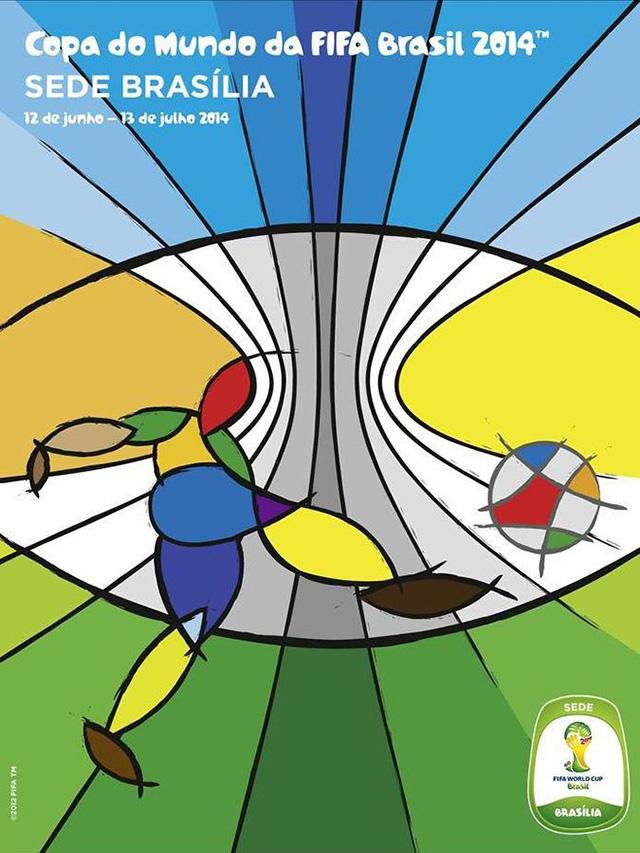 Cartaz Brasília sede Copa do Mundo