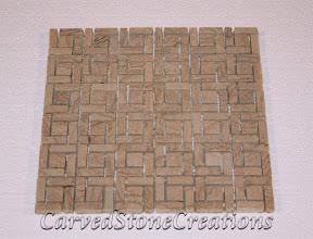 Flooring, Flooring & Mosaics, Interior, Mosaic, Natural, Pinwheel, Sandstone, Stone, Tile