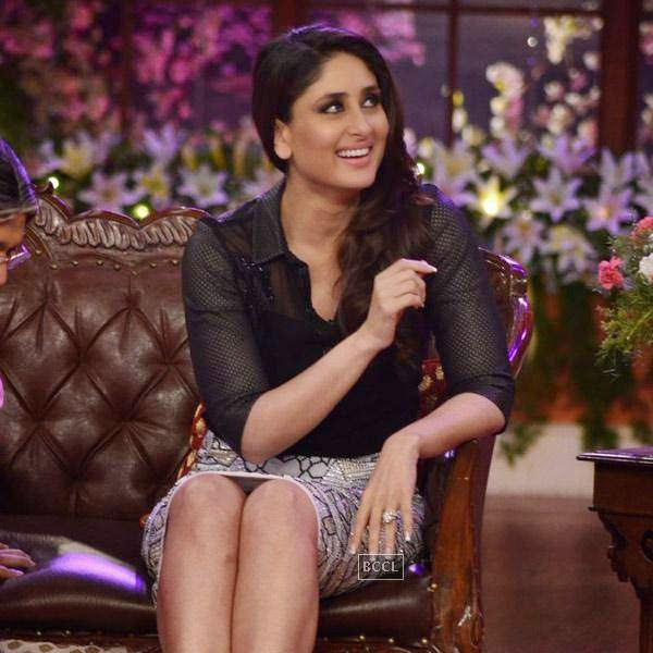 Kareena Kapoor promotes Singham Returns on the sets of the show Comedy Nights With Kapil, in Mumbai.   (Pic: Viral Bhayani)