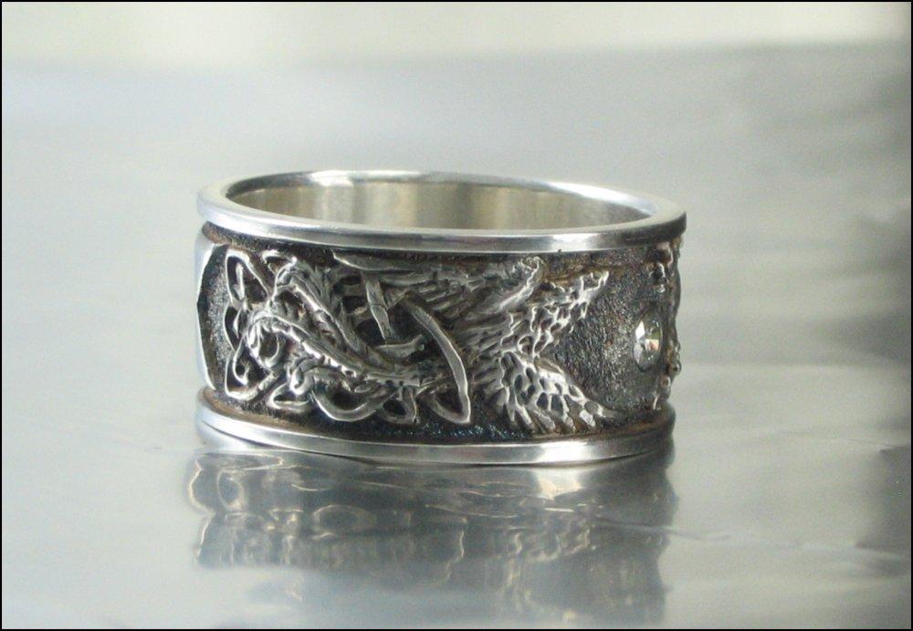 Kerkes Goldworks Men S Ring Sterling Silver And Diamond