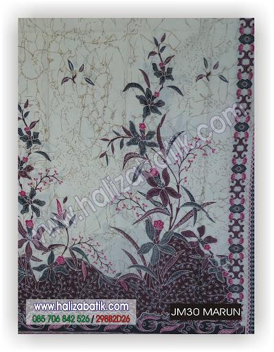 Desain Baju Batik, Grosir Busana, Mode Baju Terkini, JM30 MARUN