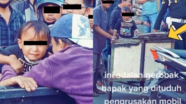 Pemulung Nyaris Diamuk Massa karena Dituduh Rusak Mobil, Anak Ketakutan Ikut Mobil Polisi