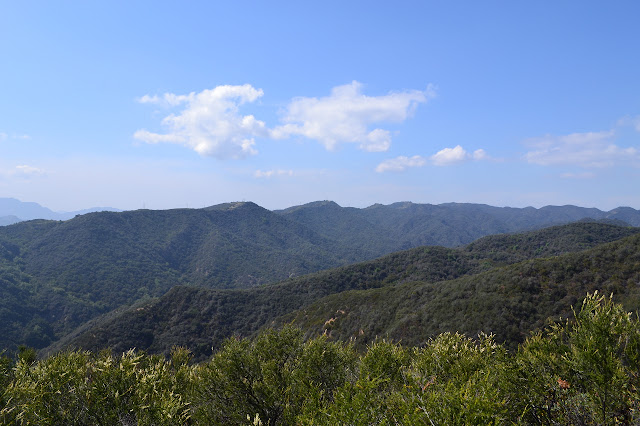 looking out over Temescal Canyon