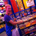 buying some candies at Lotte World in Seoul, Seoul Special City, South Korea