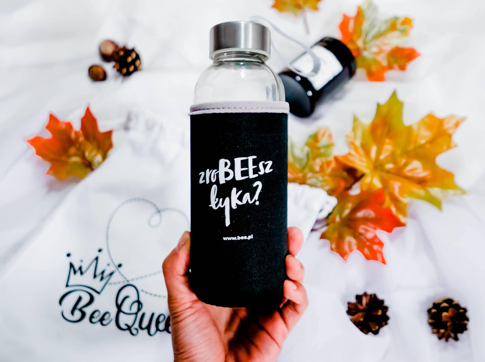szklana ekologiczna butelka na wodę