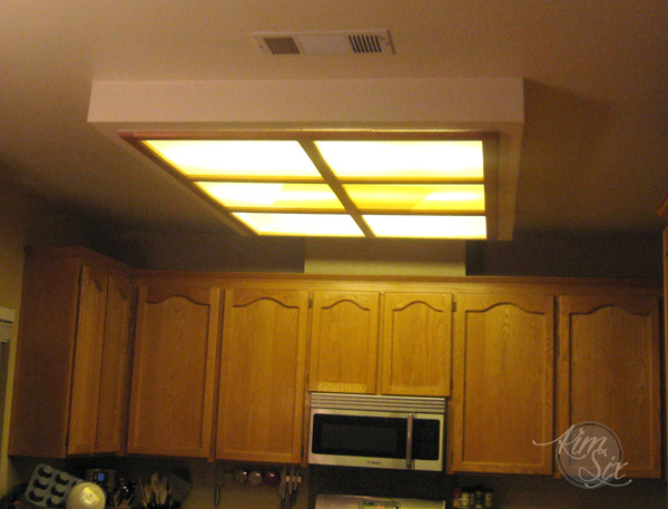 Bathroom Ceiling Light Removal removing a fluorescent kitchen light box - the kim six fix