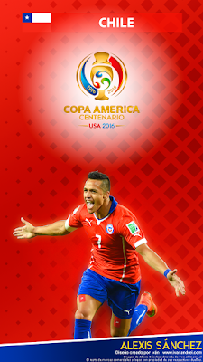 Wallpaper Copa América 2016 - Chile (Alexis Sánchez) - 720x1280