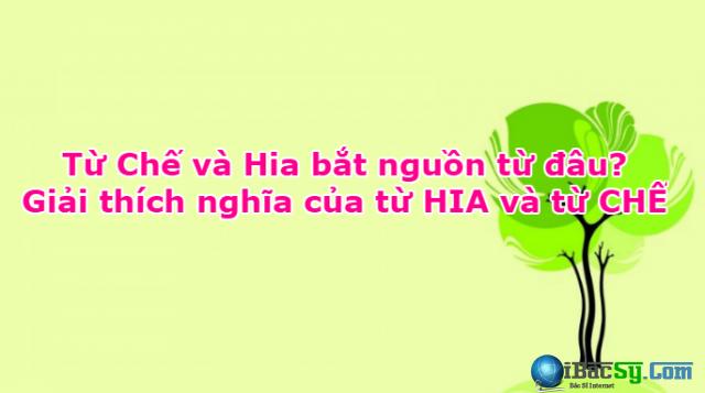 Giải thích nghĩa của từ HIA và từ CHẾ + Hình 1