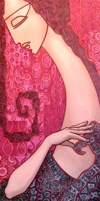 Dama VI Pintura de Gloria Morán Mayo