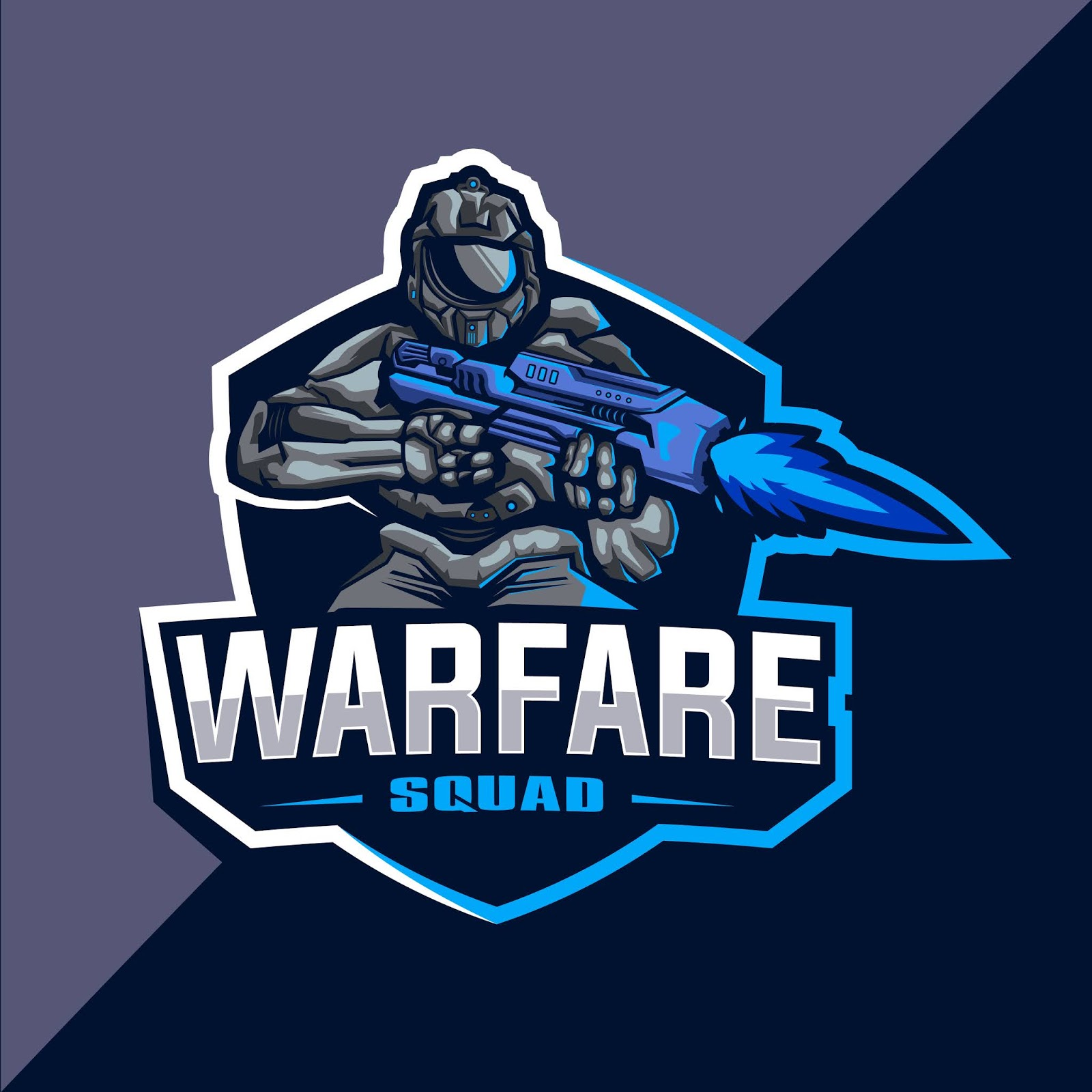 Warfare Squad Esport Logo Design Free Download Vector CDR, AI, EPS and PNG Formats