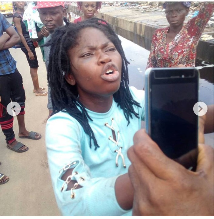 Lady Trying To Throw Her Baby Away In Lagos Caught (Photos)