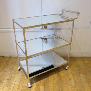Contemporary Mirrored Bar Cart