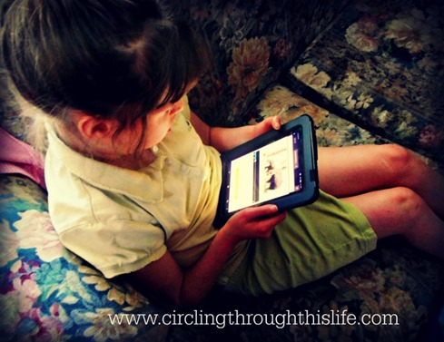 Supergirl enjoys SmartKidz on the Kindle! Read Tess's Reviwe at Circling Through This Life