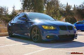 Blue BMW E92