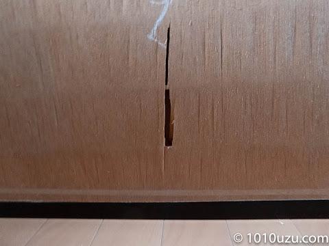 戸襖のベニアが傷んでいる
