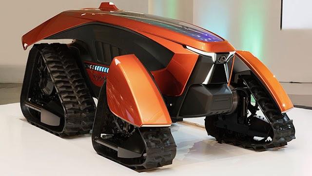 Kubota'dan fütüristik bir otonom elektrikli traktör modeli
