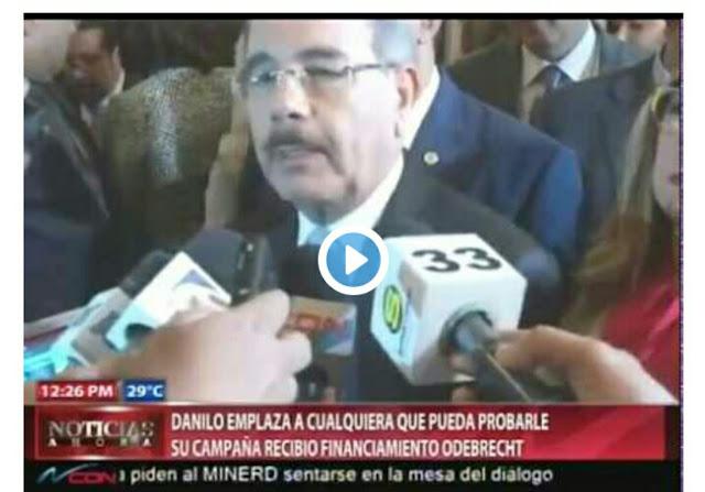 Presidente Danilo Medina niega rotundamente informaciones sobre supuestos pagos a asesor