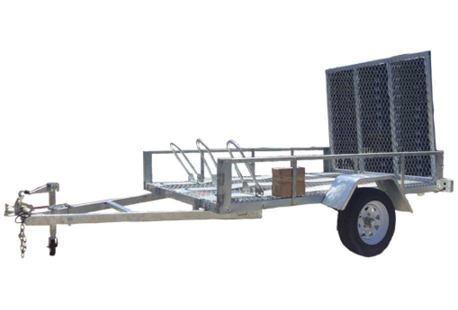 8 x 5 Galvanised Motorbike & ATV Trailer