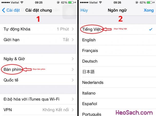 Hình 5 - Hướng dẫn cách bật chế độ gõ tiếng Việt trên iOS