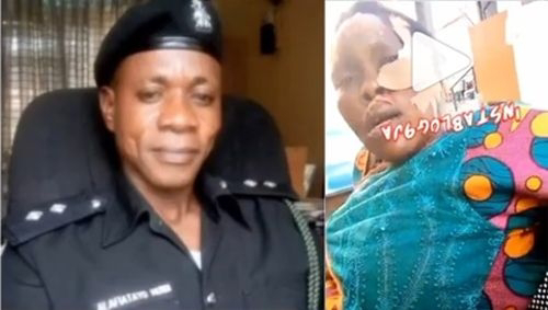 How Lagos Policemen Almost Killed Us Over 200 Bribe From Bikeman – Injured Pepper Sellers Reveals (Watch Video)