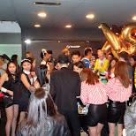 long queues at halloween nightlife at OMNI nightclub, Taipei in Taipei, T'ai-pei county, Taiwan