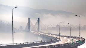 Muzaffarabad in fog