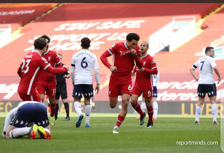 Premier League: Alexander Arnold late strike seals 2-1 comeback for Liverpool against Aston Villa (Highlights) 2020-2021