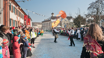 Die Feuerspucker der Neuenburger Zigeunerclique