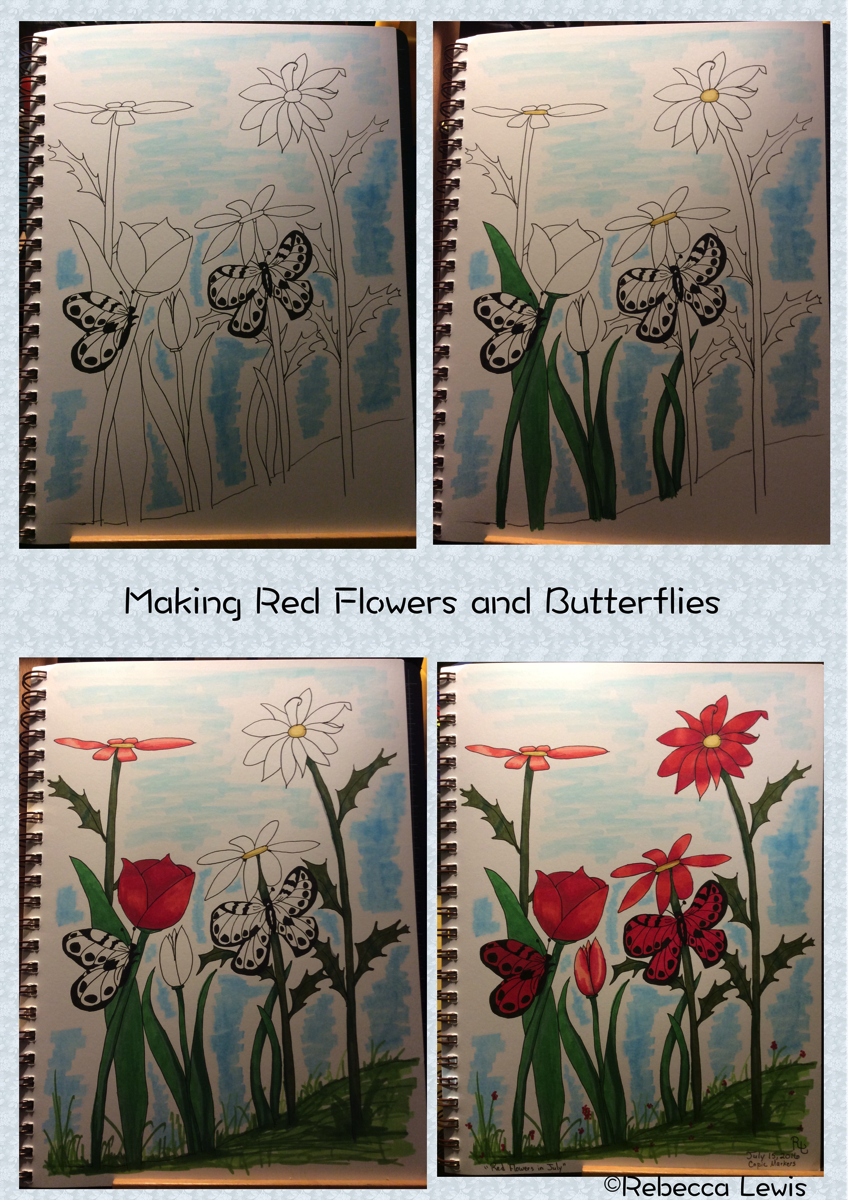 Making Red Flowers and Butterflies 2016 Jul 15