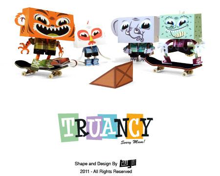 Truancy Crew Paper Toys