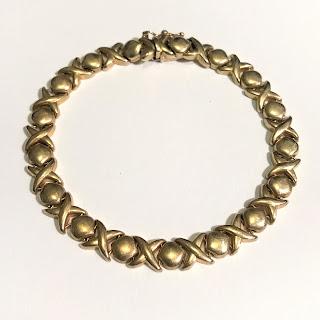14K Gold XO Bracelet