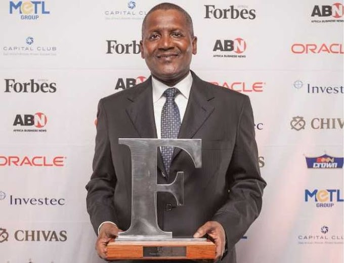 BREAKING! Dangote Is The 64th Richest Man In The World