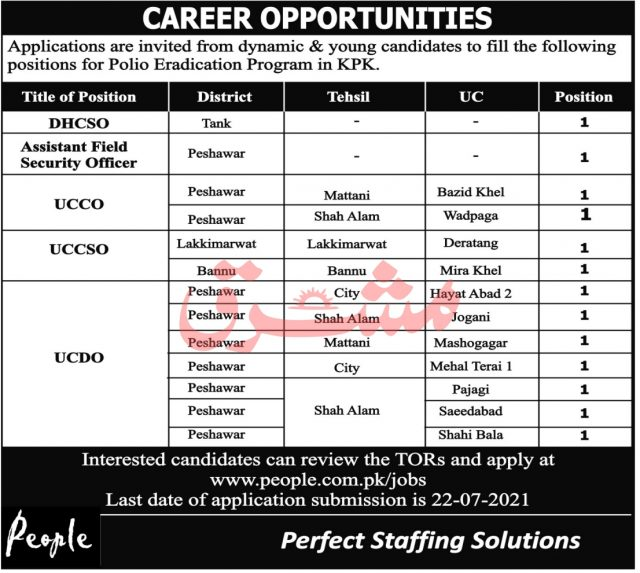 Polio Workers Jobs 2021 Apply Now