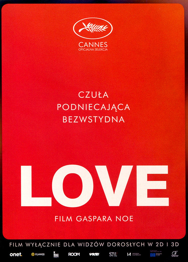 Ulotka filmu 'Love (przód)'