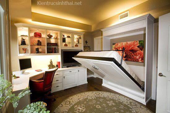Thiết kế căn hộ nhỏ với giường gấp tiện lợi