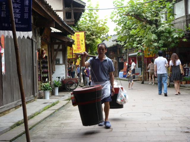CHINE.SICHUAN.PING LE à 2 heures de Chengdu. Ravissant .Vallée des bambous - P1070509.JPG