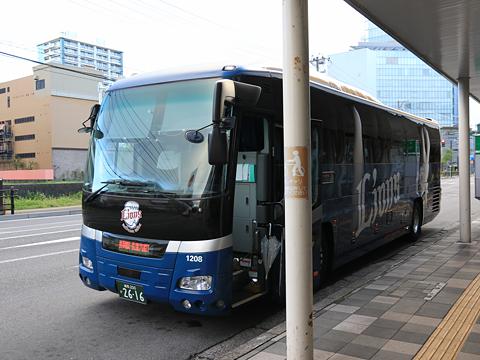 西武バス 長岡新潟線 1208 万代シティバスセンター到着 その1